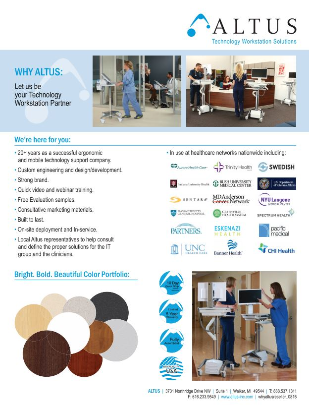 'Why Altus' Reseller Brochure