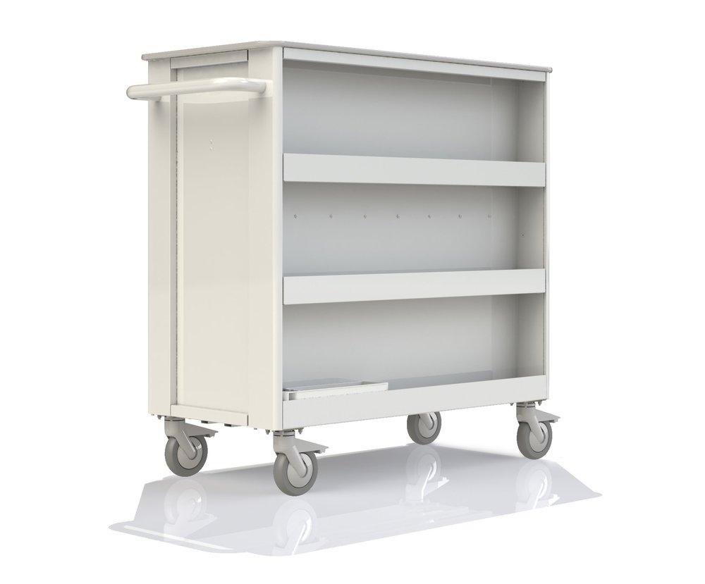 Transfer Cart Rear - additional bin storage