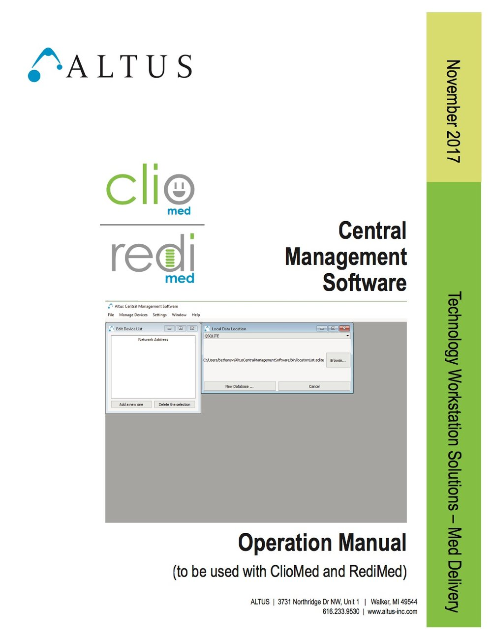 Central Software Management Manual