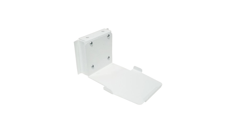 "BCH-15 Bar Code and Charging Base Holder - 4.5""W x 3.3""H x 6""D - Rear Worksurface Mount - White Finish"