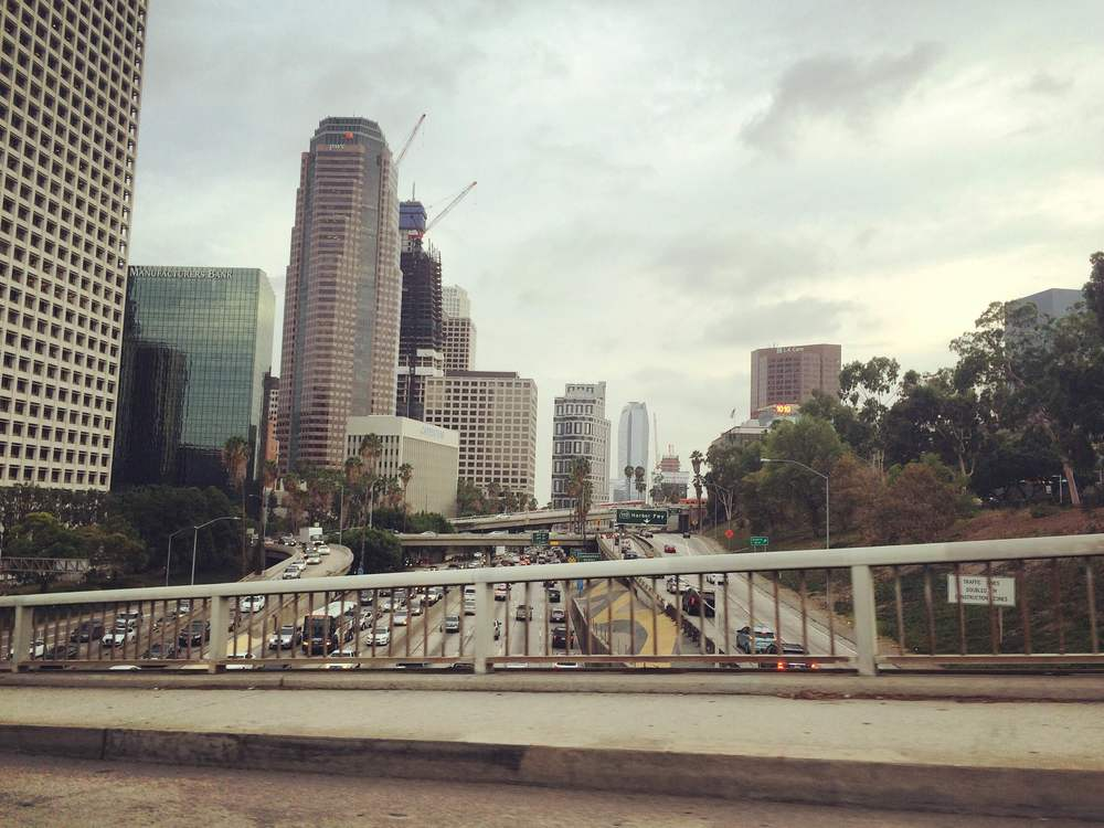 Driving into Downtown LA we passed the highways and all of the cars were stopped *ugh* traffic here is terrible! -H