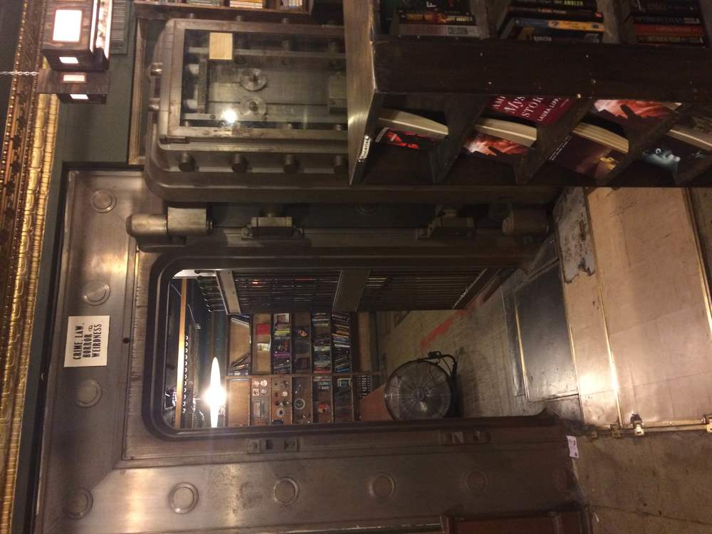 The last bookstore used to be an old bank so they still have this vault upstairs!