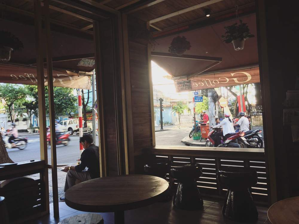 The view from inside G coffee
