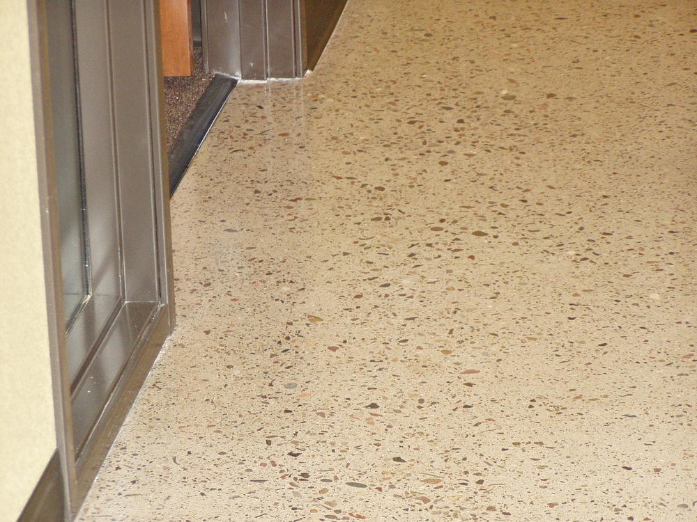 polished concrete, custom, shiny floor, concrete floor, Arizona, phoenix, scottsdale, rock floor