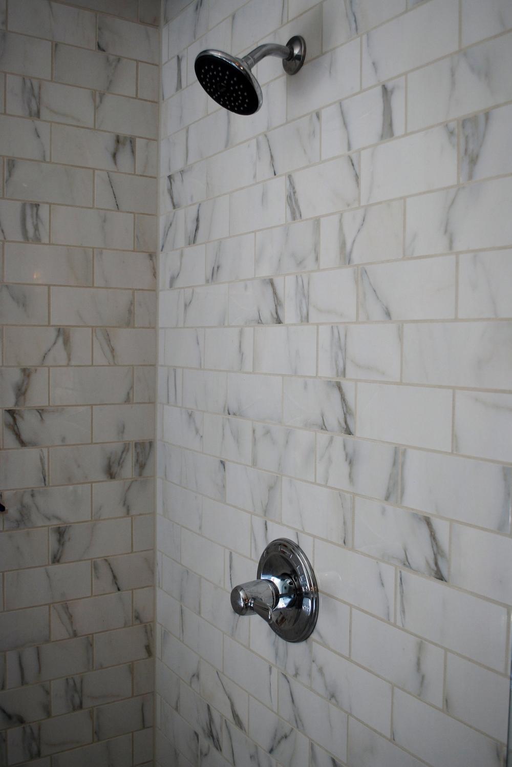 Marble Shower Remodel