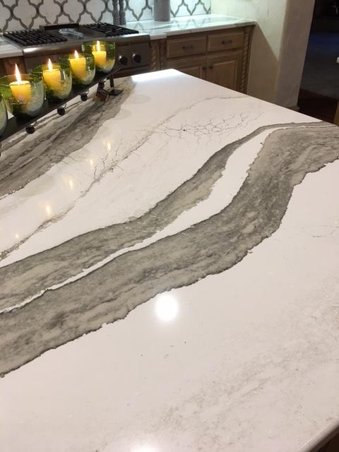 Marble Backsplash with Cambria Skara Brae