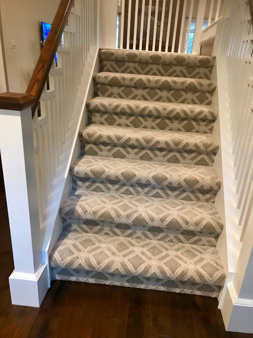 AFTER - Anderson Tuftex patterned carpet to complete the look.