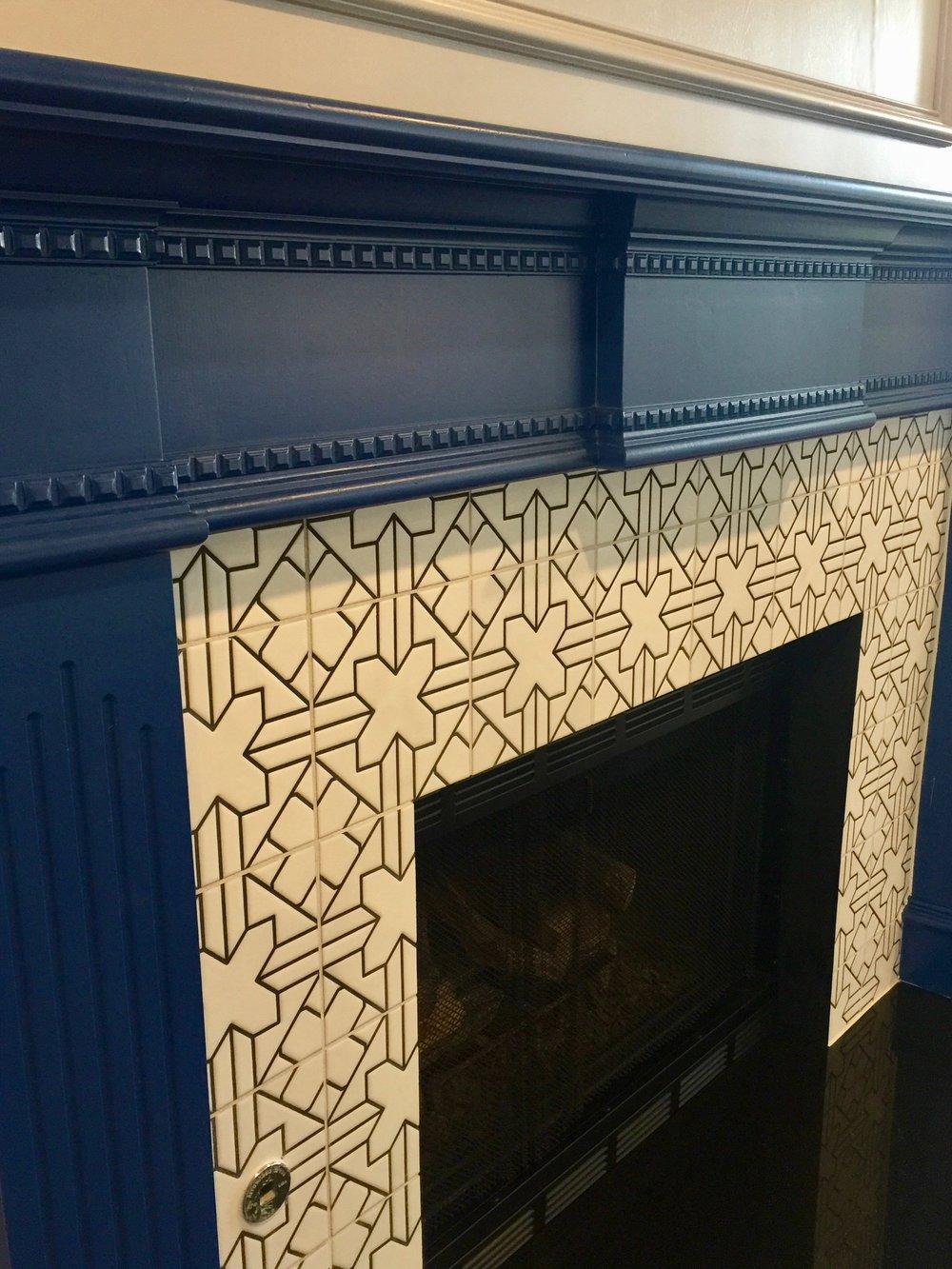 Cambria Ella + Fireclay Tile