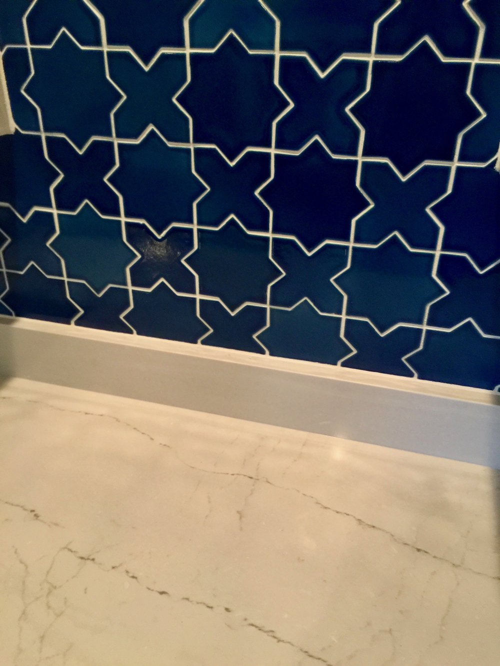Cambria Quartz + Fireclay Tile