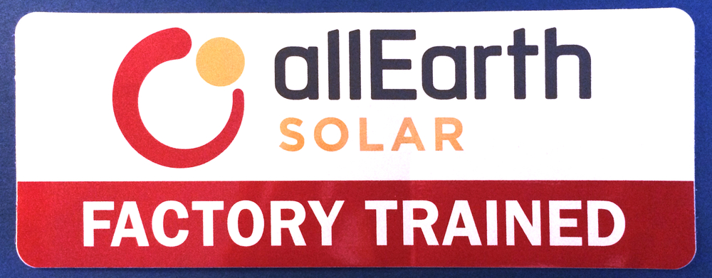 We are proud to be certified by AllEarth Solar. Our installations are safe, long-lasting and beautiful.