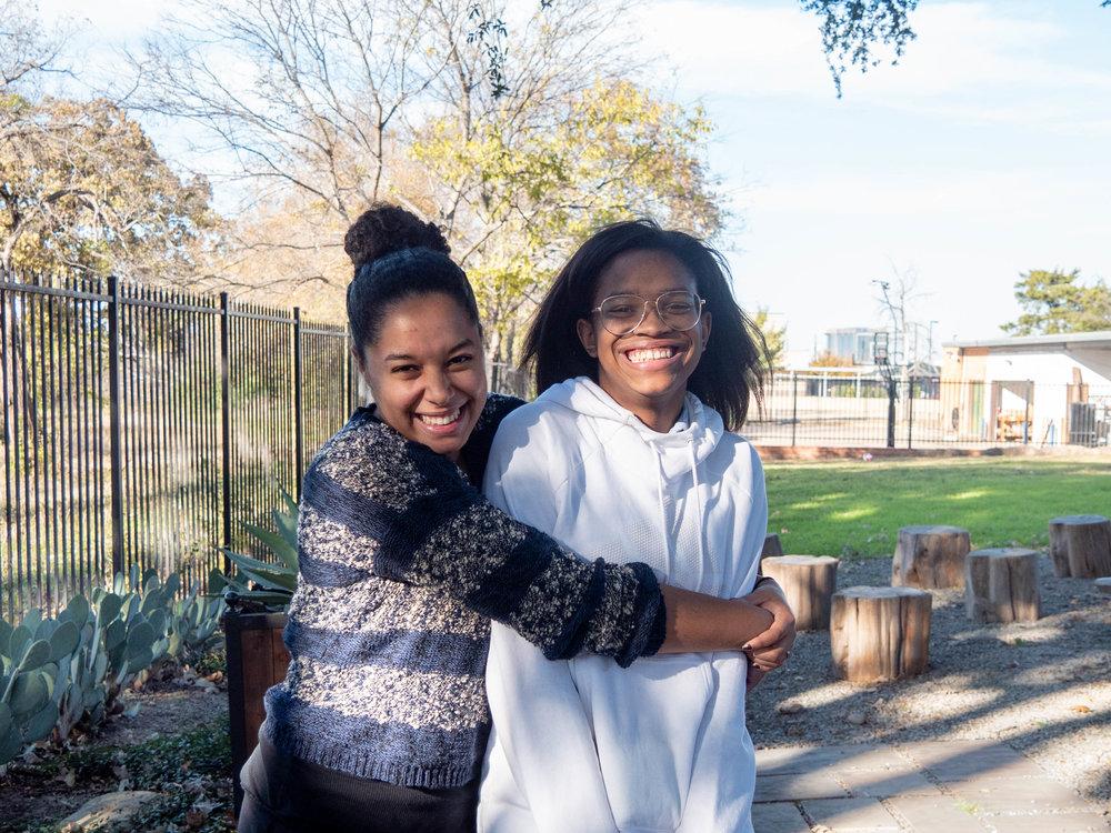 Ashunti and Miriam, her Street Team leader.