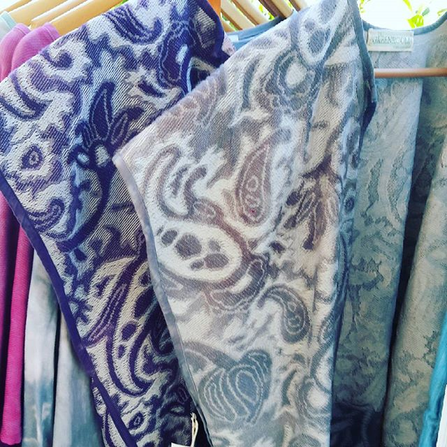 Some of my favorite pieces, vintage blend upholstery fabric vests  #sustainablefashion #oneofakind #vintage #handdyed #color #spring