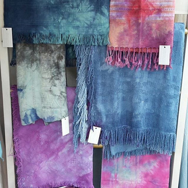 Hand dyed goodness!  #shoplocal #charleston #sustainable #sustainabledesign