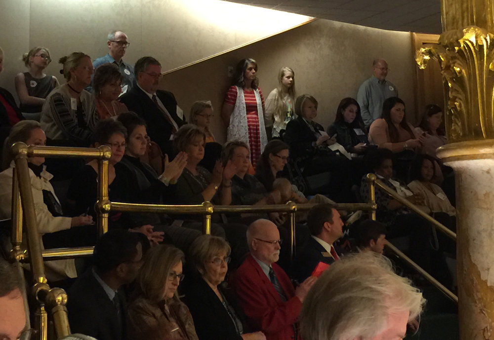 Members of the ARA in the House gallery.