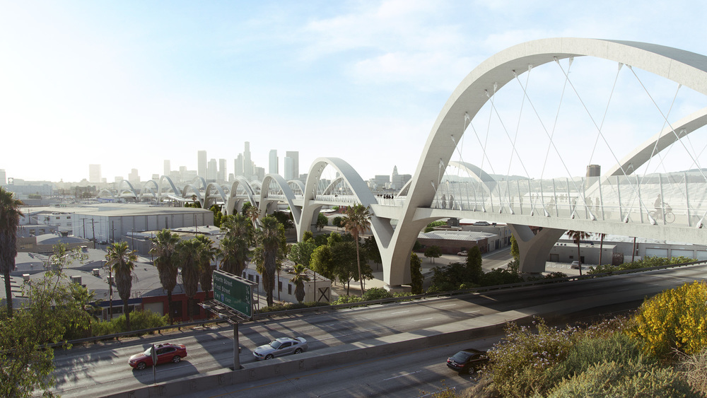 Rendering of new proposed viaduct and bridge network.    Rendering: Michael Maltzan Architects