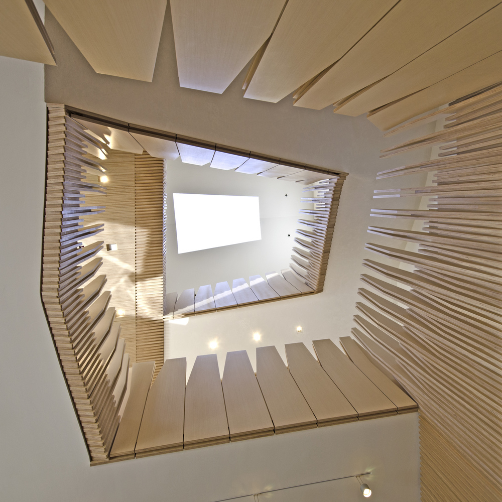 View looking up through stair.    Photo: NADAAA