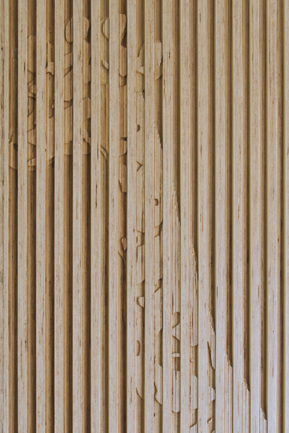 Giraffe mill wall detail in child room.    Photo: NADAAA