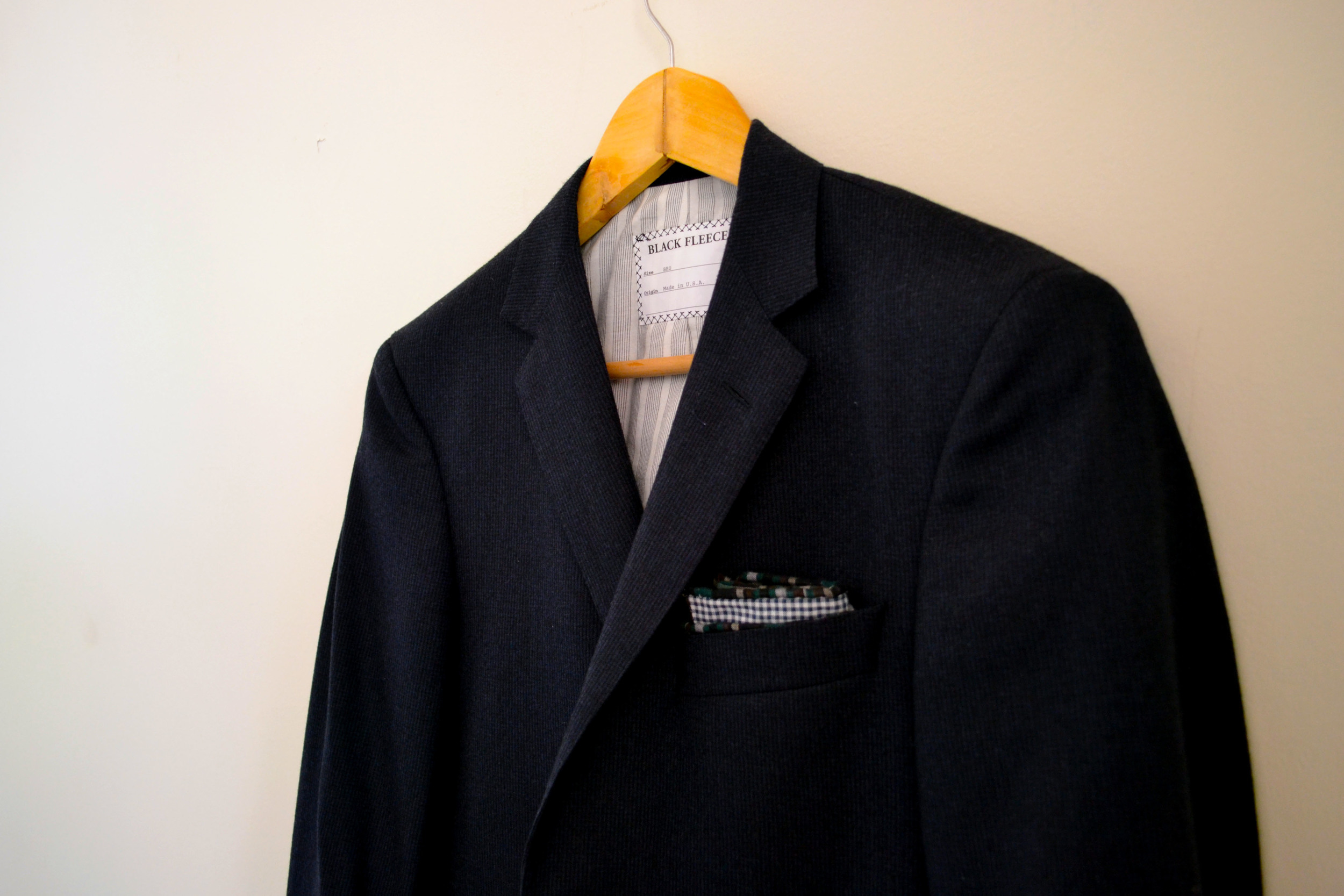 black fleece blazer