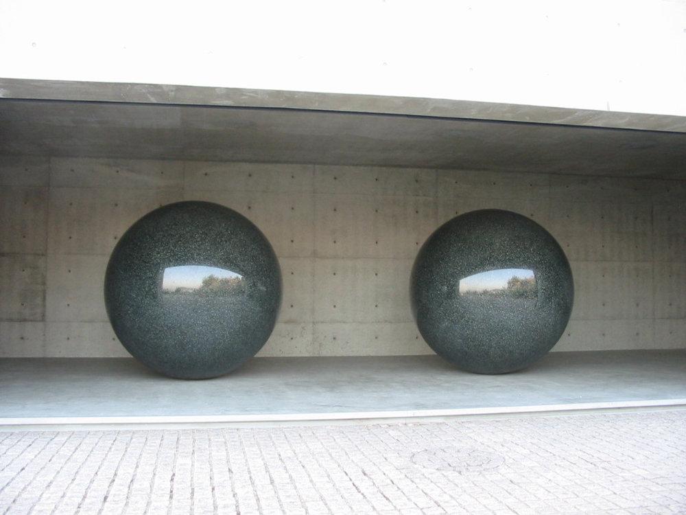 Benesse DeMaria granite balls.jpg