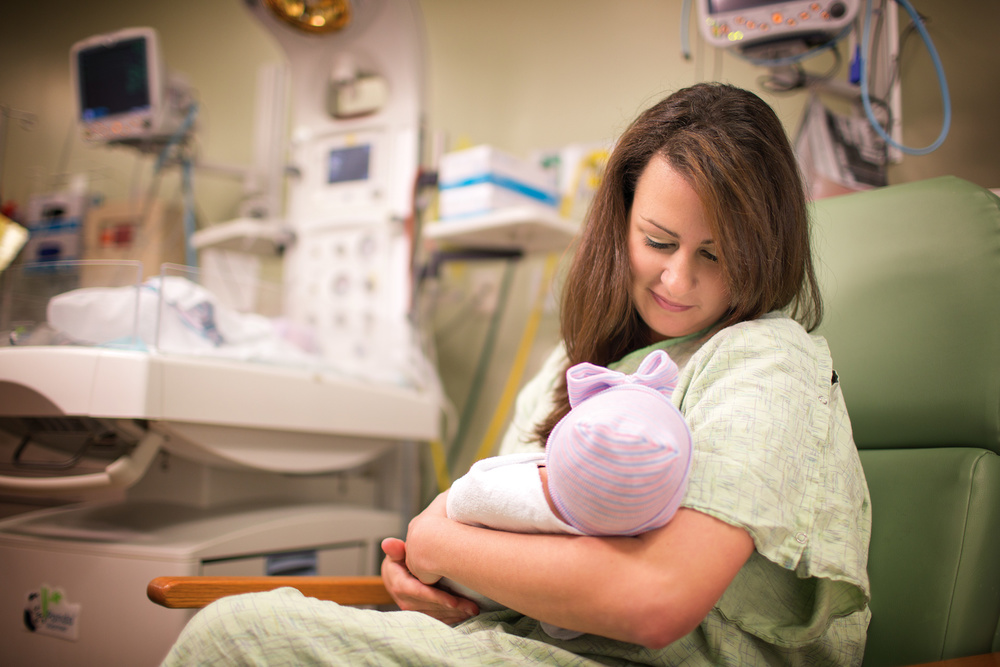 Orange Park Medical Center: NICU Portrait of Mother and Child