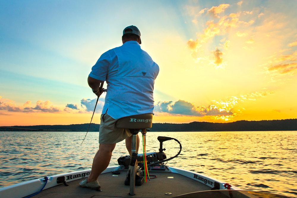 Ledge Fishing at Dawn
