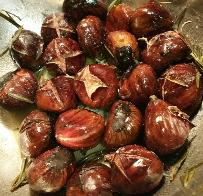 Chestnuts with rosemary butter- yummy & healthy