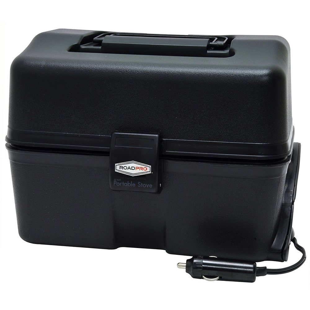 Travel Car Warmer/Cooker - Handy 12-volt portable stove. Warms food to 300 degree