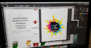 Graphic design in Adobe