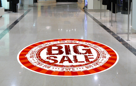 Cap City Repro offers top quality, durable and removable custom floor graphics for any type of flooring surface.