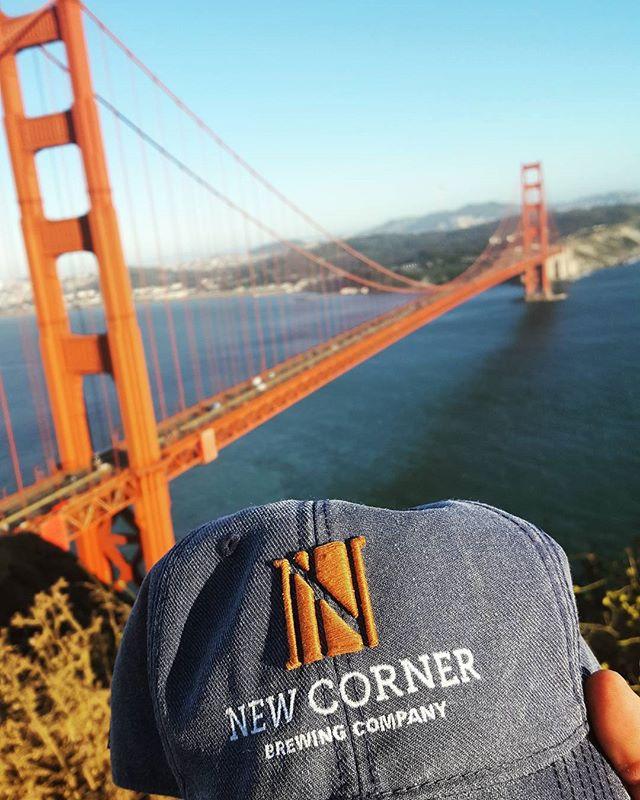 3 time zones, 7 states, and 2,323 miles.  But only 1 New Corner.  #beer #craftbeer #beers #beerstagram #beersofinstagram #drinklocal #newcornerbrewing #sanfrancisco #goldengatebridge #brew #microbrew