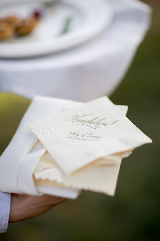 wedding cocktail napkins - Hoste Events