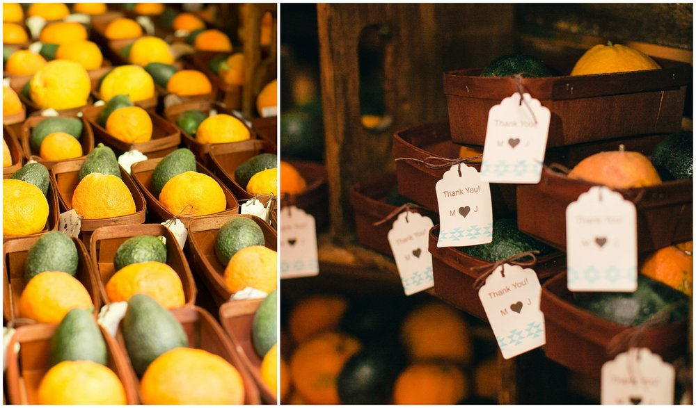 Citrus Favors Quail Ranch Wedding - Hoste Events