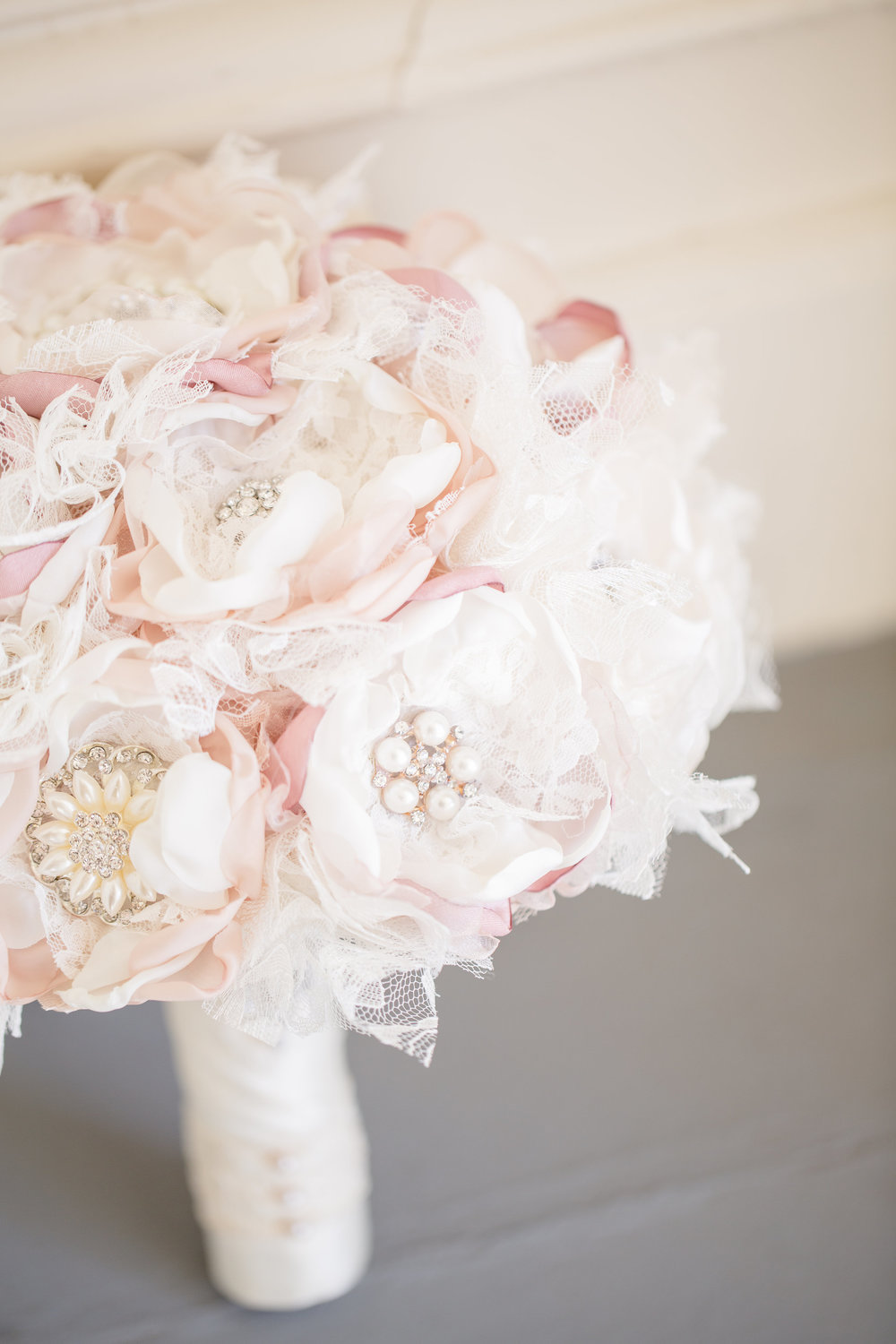 So I just LOVED this vintage brooch bouquet my bride carried.  The bride collected all the brooches and made this bouquet herself.  Her entire wedding was vintage inspired and this bouquet could not have been more perfect.    Photo By:  Fortuna Photography   Venue:  Camarillo Ranch House