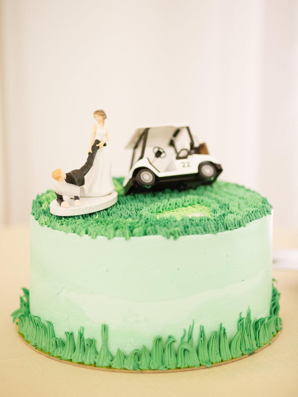 golf-themed Ojai Valley Inn wedding groom's cake
