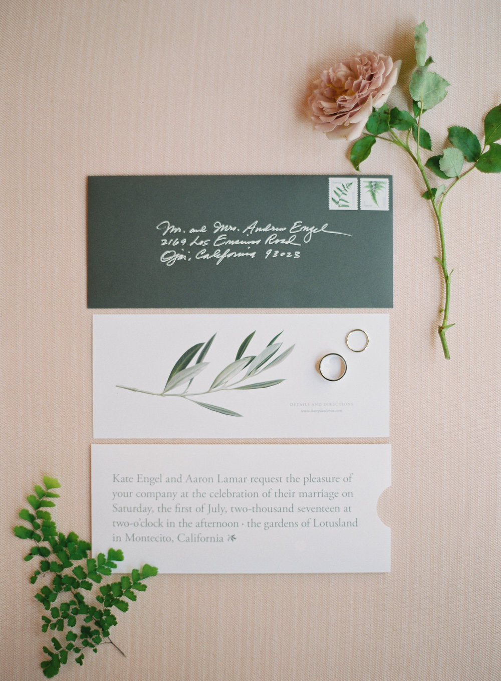 elegant modern wedding invitation suite