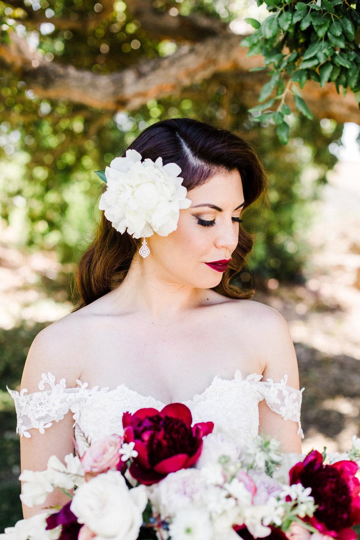vintage-inspired bridal style