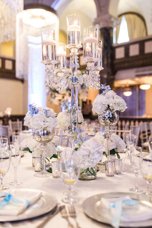 elegant white reception table