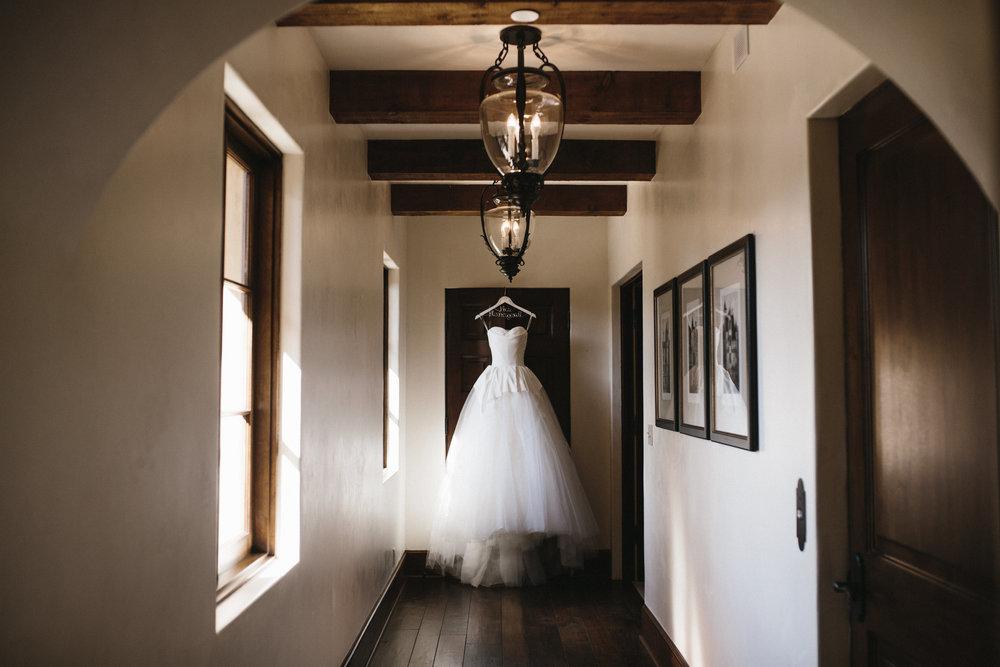 wedding gown portrait