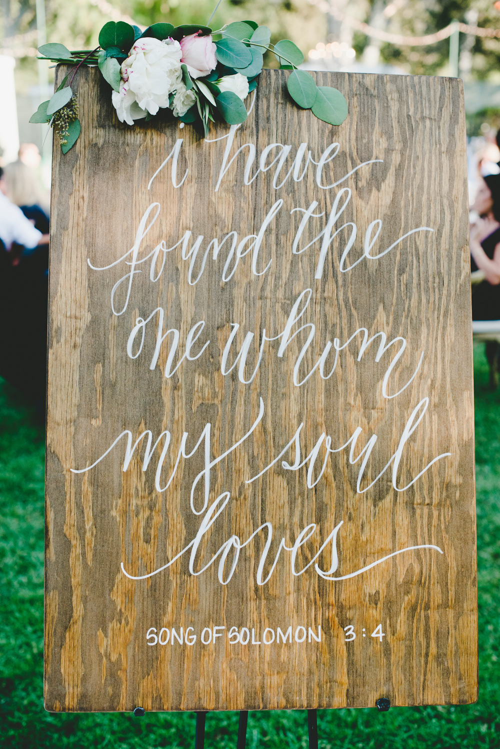 hand-painted wedding quote sign