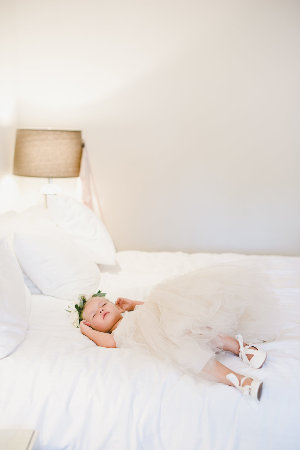 napping flowergirl