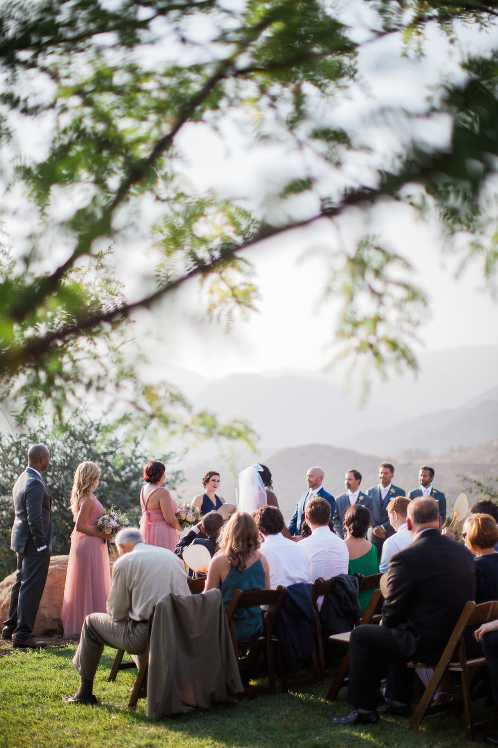 Ojai mountaintop ceremony