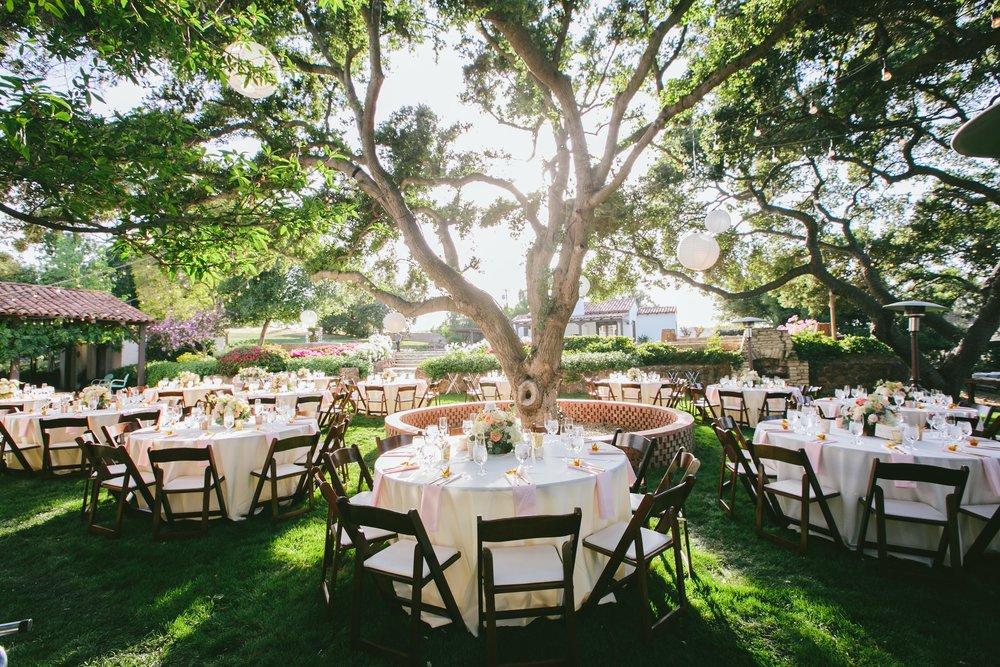 outdoor reception at Quail Ranch