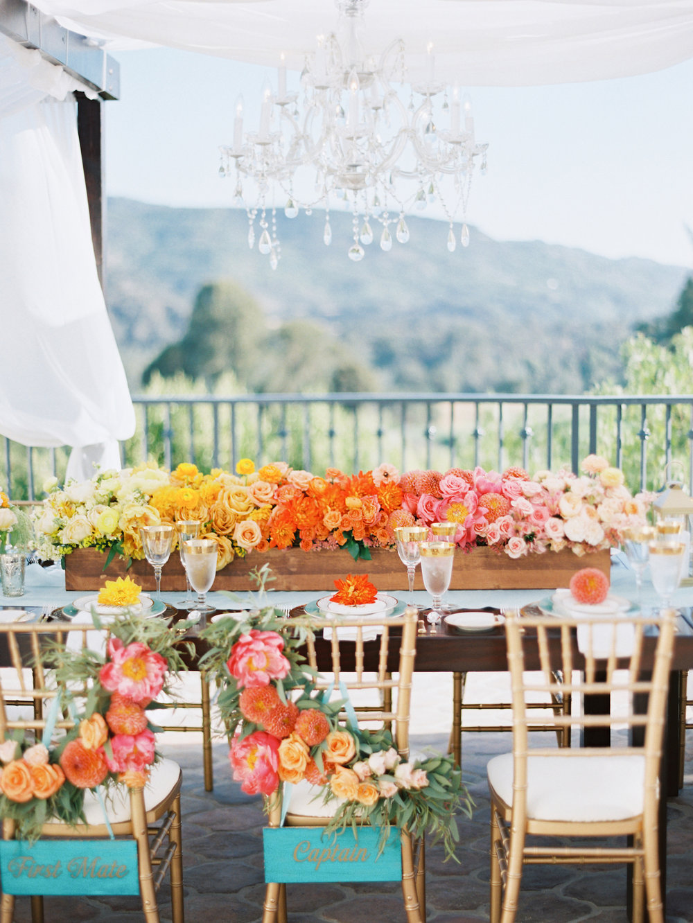 Stunning Colorful Ojai Valley Inn Wedding