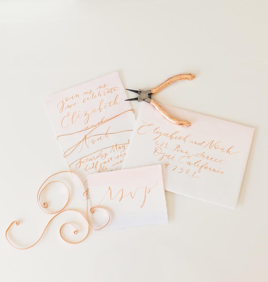 Copper and Blush Wedding Invitation