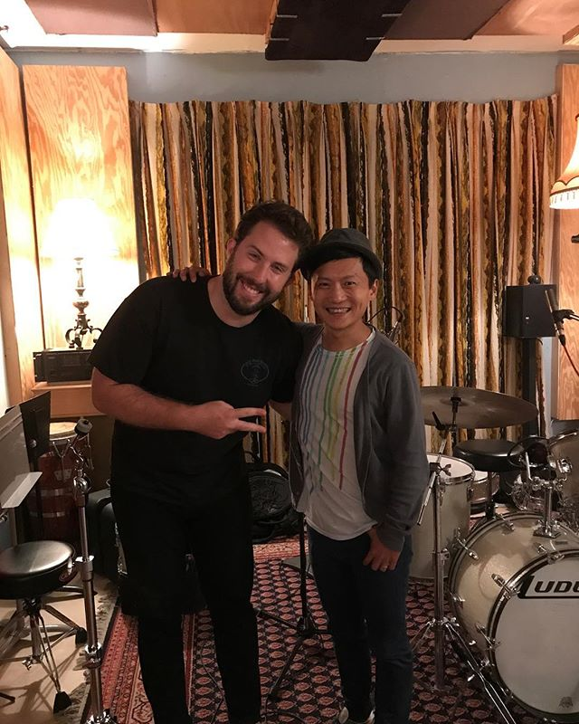 Thanks @chetlam and @christheco for such an awesome #recording sesh... can't wait to hear the finished tunes.  #chetlam #chrisconnors