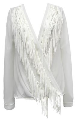 yoana baraschi white fringe blouse
