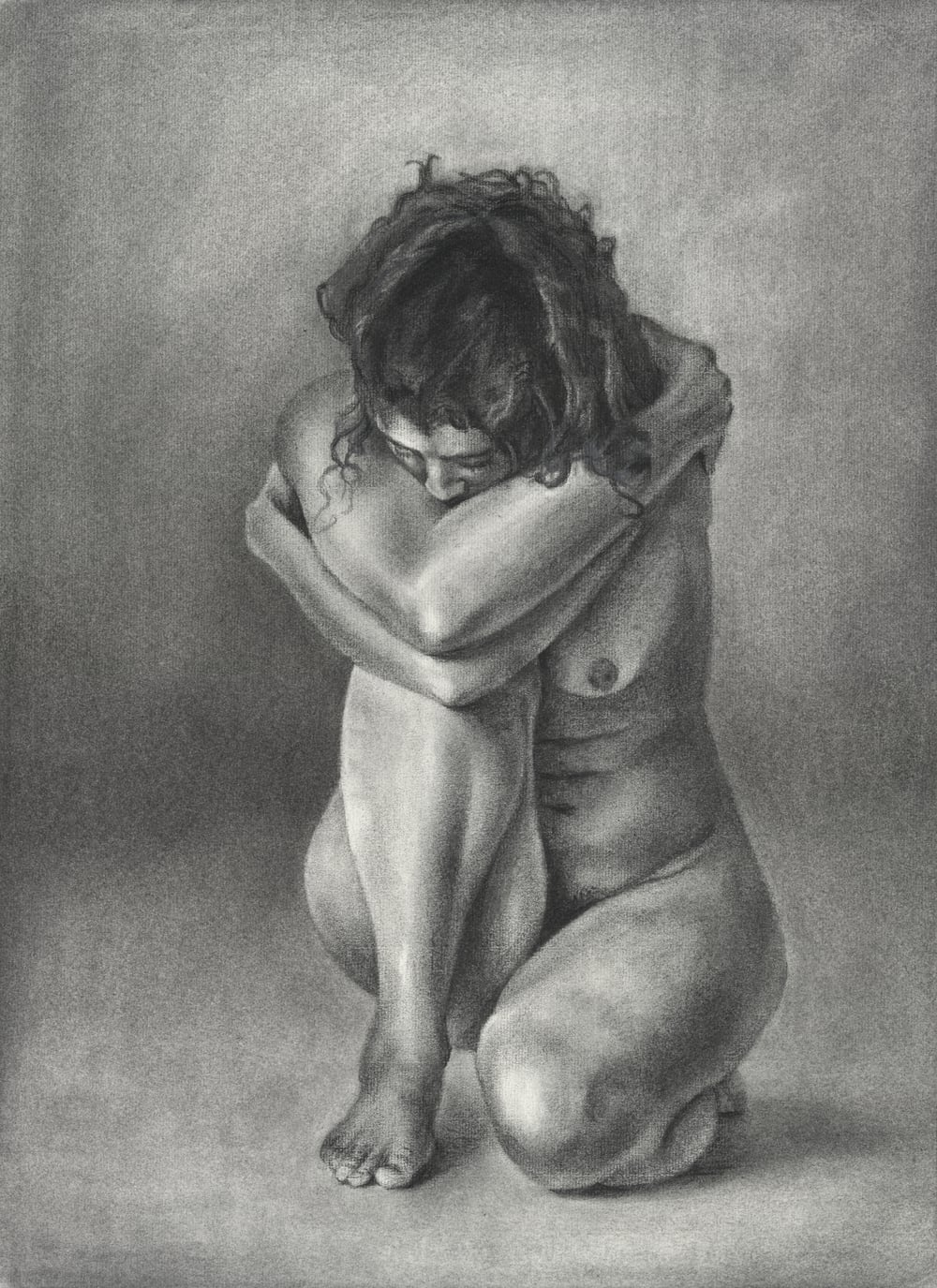 figure drawing - charcoal