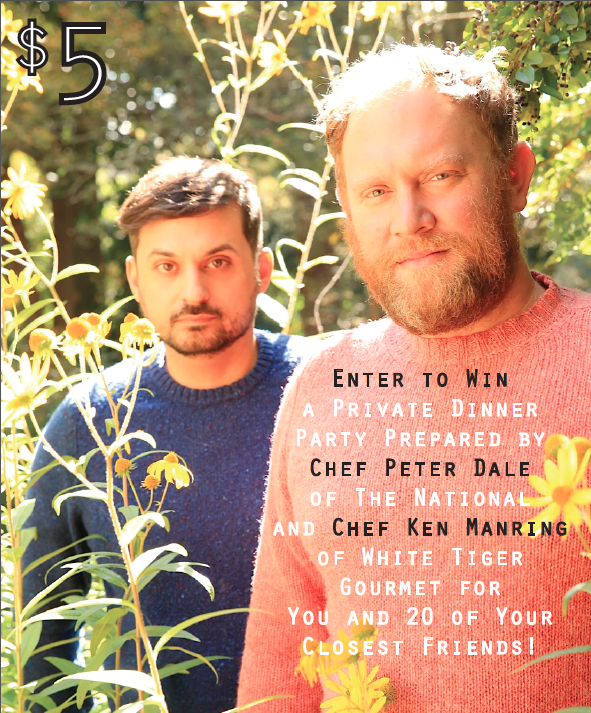 Enter to Win a Private Dinner Party Prepared by Chef Peter Dale of The National and Chef Ken Manring of White Tiger Gourmet!      (A Benefit for Athens Community Council on Aging's Meals on Wheels Program)         By a stroke of fate or fortune, Chefs Peter Dale and Ken Manring share a birthday, and this year they're not asking for gifts, they're giving instead. As a fundraiser to benefit Meals on Wheels, Peter and Ken ask you to purchase a raffle ticket to win a private dinner party hosted by the men themselves at an agreed upon date in 2015 for you and 20 of your friends–all food and service included.     The drawing will take place on Saturday, November 29 at CineLab in conjunction with a birthday celebration DJ'd by The Booty Boys. Don't miss out on the chance to give back to your community and dance off those Thanksgiving calories!     Purchase your raffle tickets TODAY at The National or White Tiger Gourmet!