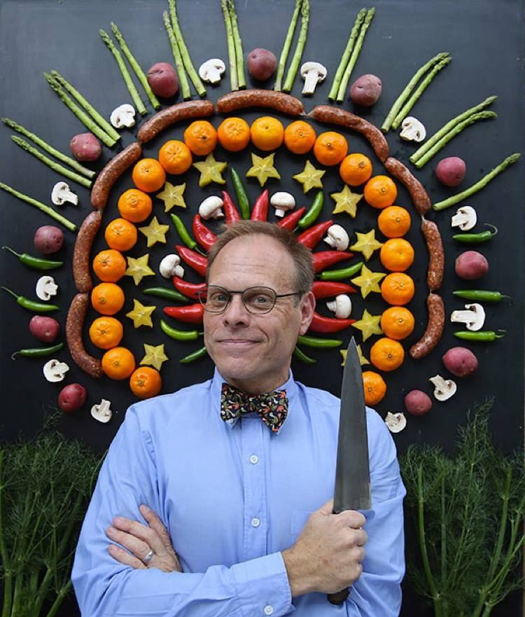 With the Alton Brown blessing on our Okra and Chickpeas Salad, we press on for an exciting night of edibles and experimentation at The Classic Center TONIGHT!    If you haven't gotten tickets yet for the Edible Inevitable Tour's stop in Athens, there's still time. This UGA alum will have you roaring with laughter on this interactive food tour unlike any other–audience interaction strictly enforced!    Visit  http://www.altonbrowntour.com/mobile/shows/athens