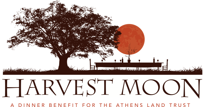 The Seventh Annual Harvest Moon Dinner is just around the corner! This special annual dinner was created as an intimate meal to support the mission of the Athens Land Trust and to celebrate the landscapes of the community with great local food and wine…for a great cause! This year, the Athens Land Trust is excited to host the Harvest Moon Dinner on October 11th on the 5-acre Williams Farm, located 1.5 miles from downtown Athens. This farm-fresh dinner is brought to you by Chef Peter Dale of The National and Seabear Oyster Bar. Acquired by the Trust in 2013, the Williams Farm has been a working farm for several generations and includes a beautiful Certified Naturally Grown urban farm, a recently renovated large farmhouse built in 1929-30, and several barns and historic outbuildings. The purchase of the Williams family farm represents a huge step in expanding the Trust's mission to build community through agriculture. On the Menu First Course: Marinated olives Local cheeses with local pear jam, crostinis Pickled okra from Williams Farm Baguettes with cane syrup butter Main Course: Grilled local chicken with sweet onion marinade Tomatillo salsa, cilantro, and radishes fresh from Williams Farm Braised lamb meatballs from World Shepherd Farm in Oconee with tomatoes, eggplant, mint, pine nuts, cucumber-yogurt from Williams Farm Red Mule polenta with roasted peppers and sweet potato leaves from Williams Farm Salad of grilled summer squash with shiitake mushrooms, purslane, arugula, basil vinaigrette, fresh from Williams Farm Dessert: Condor chocolate sponge cake soaked with Jittery Joes Community Grounds coffee syrup Toasted cardamom meringue candied citrus, Condor cocoa sauce and nibs Tickets are now available at $150/ticket. $75 of each ticket is tax deductible. To purchase tickets, or for more information, contact Nathan Shannon at nathan@athenslandtrust.org or call 706-613-0122.
